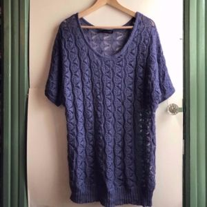 MAURICES 1 Purple Short Sleeve Thin Sweater Blouse